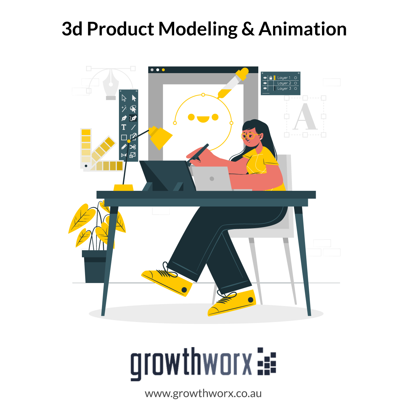 We will create 3d product modeling and animation 1