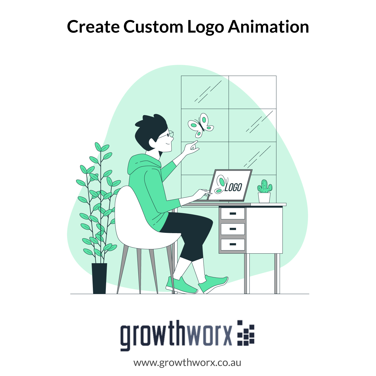 We will create a custom logo animation 100 percent unique 1