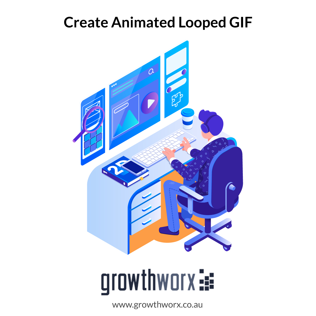 We will create a web loader or any animated looped GIF for banners or everywhere 1