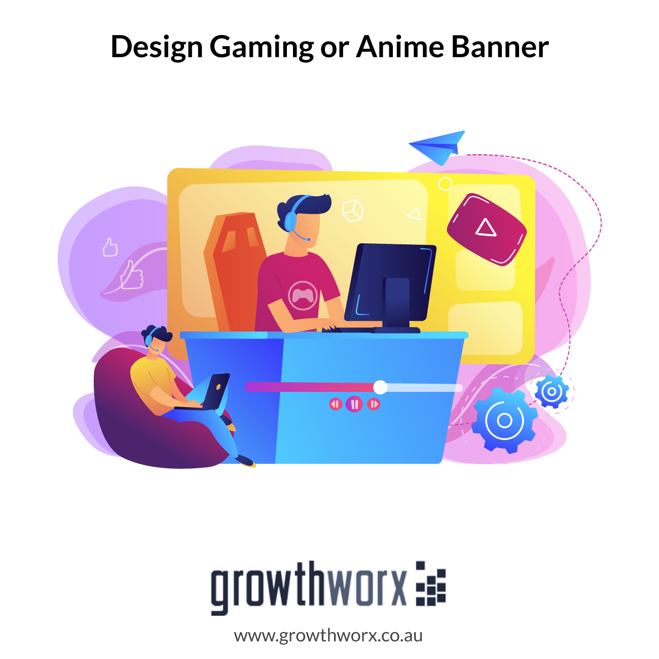 We will design gaming or anime banner for youtube, twitter, twitch 1