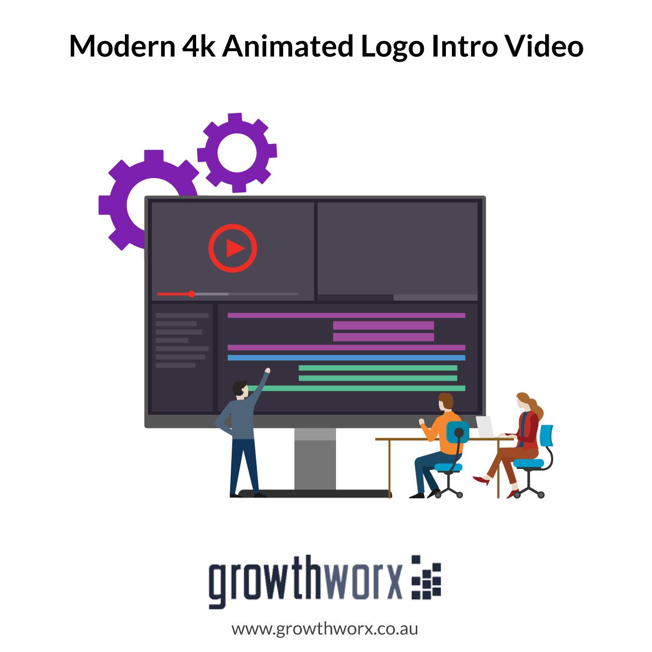 We will do modern 4k animated logo intro video 1