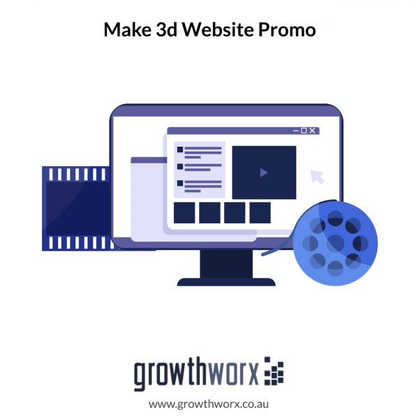 We will make 3d website promo or mobile app video tutorial or preview 1