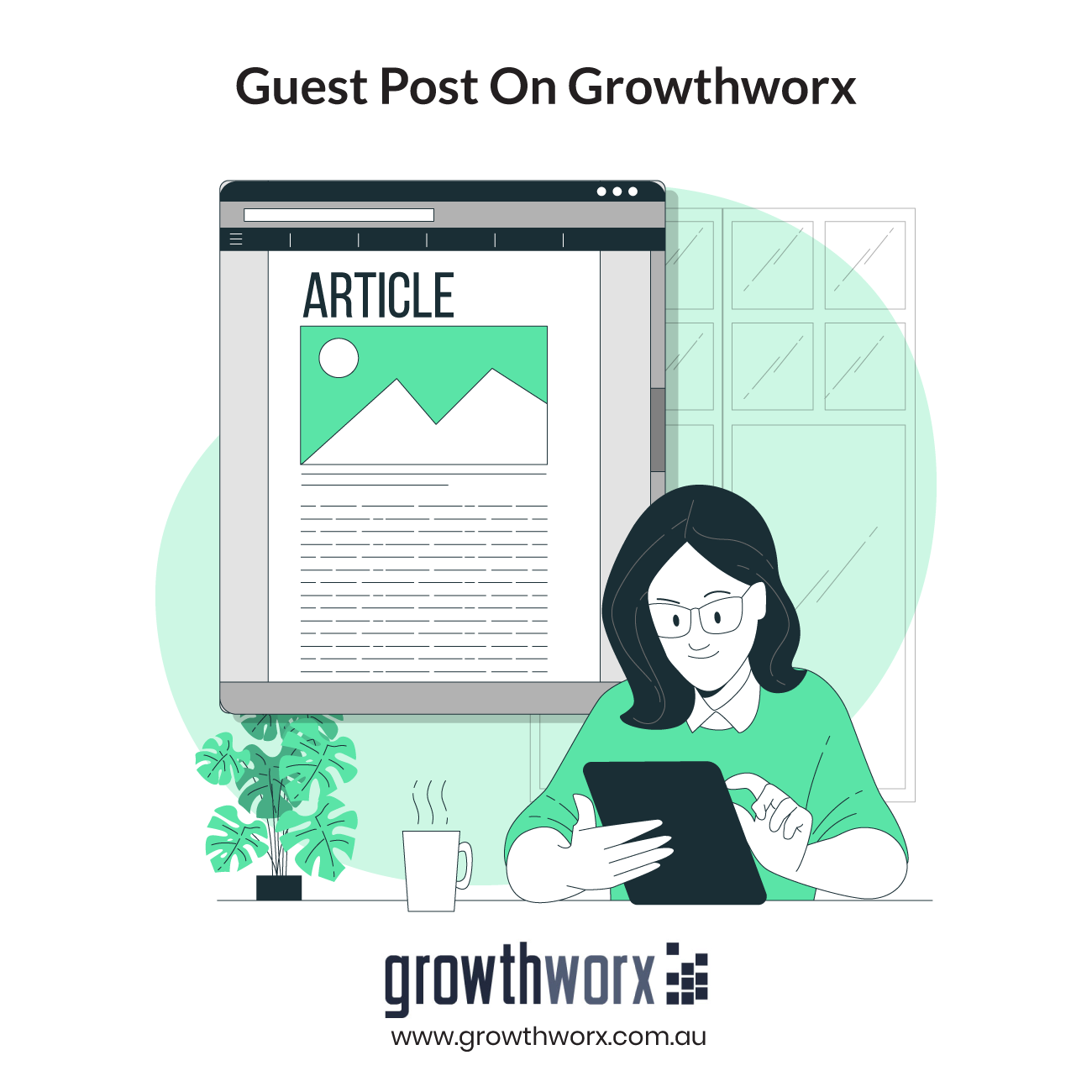 Do 1 guest post on Growthworx with high quality do follow backlinks 1