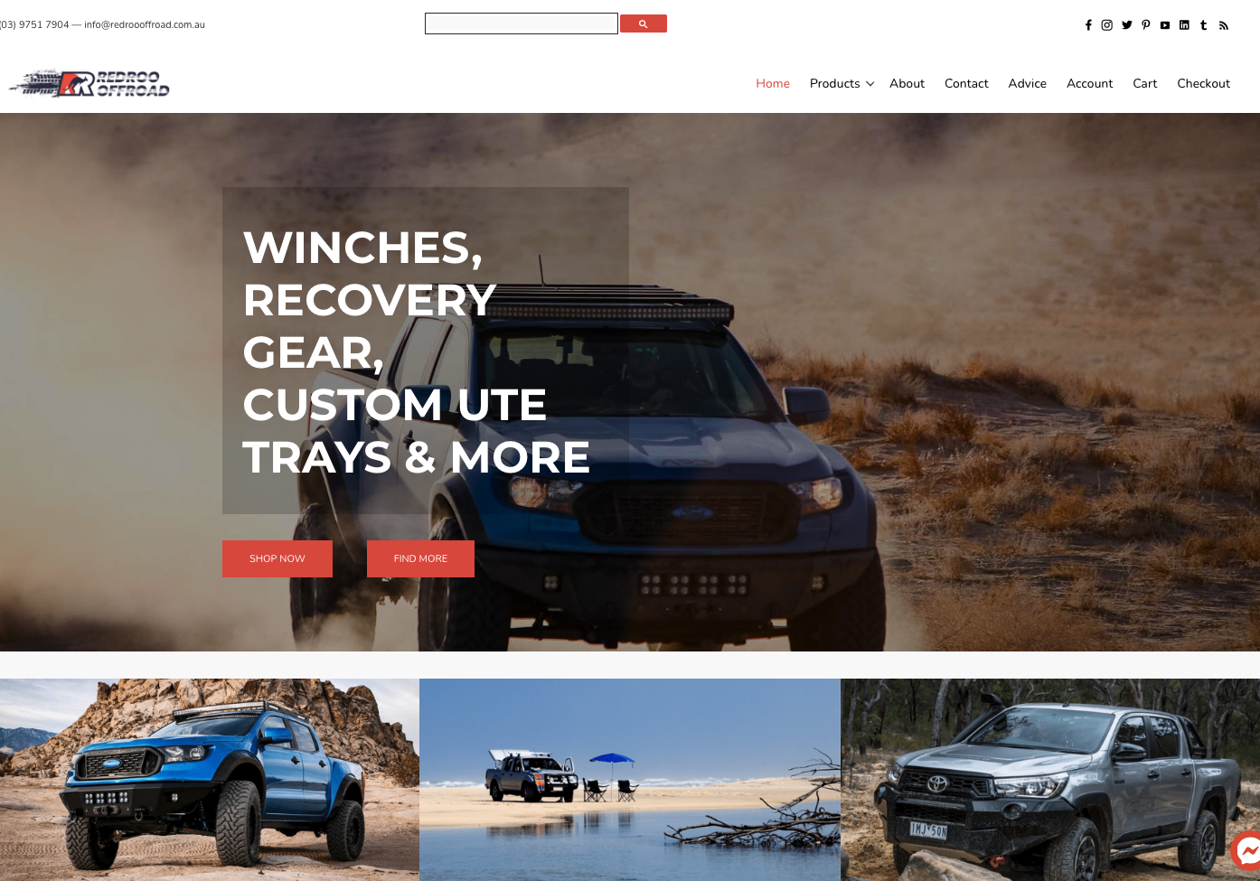 Redroo Offroad website built by Growthworx